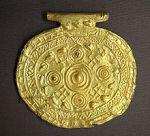 Etruscan pendant with swastika symbols