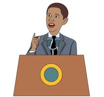President giving a speech clipart